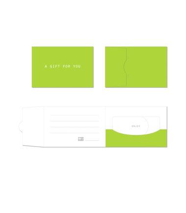 GCH303 Bright Green Side Fold Gift Card Holder