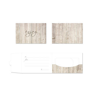GCH320 Weathered Wood Side Fold Gift Card Holder